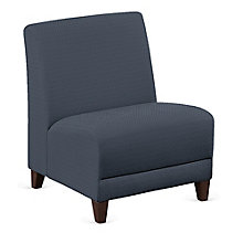 """Faux Leather or Patterned Fabric Armless Oversized Guest Chair - 25""""W, 8814258"""