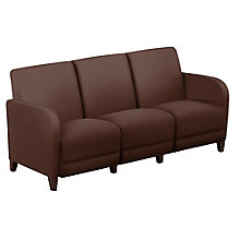 "Leather Parkside Sofa - 69.5""W, 8814269"