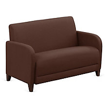 "Leather Parkside Loveseat - 50""W, 8814270"