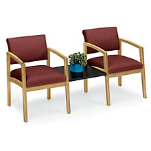 Lenox Two Chairs with Center Table in Designer Upholstery , 8803740