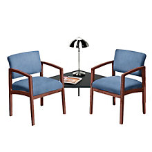 Lenox Two Chairs with Corner Table in Designer Upholstery , 8825881