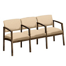 Lenox Three Seater with Center Arms in Designer Upholstery , 8825879