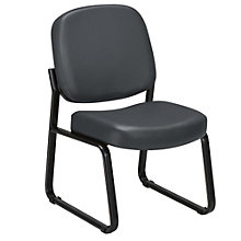 Vinyl Armless Guest Chair, OFM-405-VAM