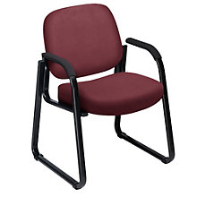 Vinyl Sled Base Guest Chair, OFM-403-VAM