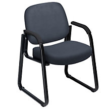 Vinyl Sled Base Guest Chair, OFM-403-VAM