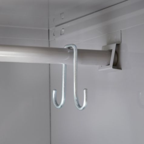 Coat Rod with Hooks