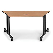"Trapezoid Table 60""x24"", 8811630"