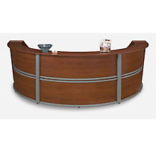 "Marque Curved Triple Reception Station - 142""W x 69""D, OFM-55293"