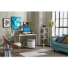 Brite Desk, Bookshelf, Active Ottoman Home Office Set, 8828175