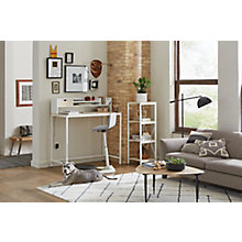 Brite Standing Desk, Hutch, Bookshelf, Perch Home Office Set, 8828174