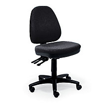 Armless Fabric Ergonomic Task Chair, 8828603