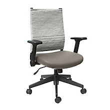 Cirrus Flip Arm Fabric Back Task Chair with Polyurethane Seat, 8807784