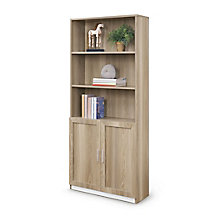 "At Work 72""H Bookcase with Doors, 8828133"