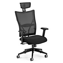 Mesh High Back Executive Chair with Fabric Seat, OFM-590-F