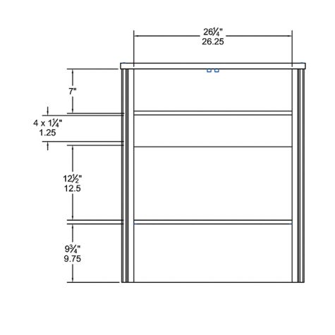 2-Door Cabinet interior dimensions