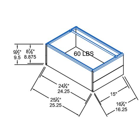 Lateral file drawer dimensions