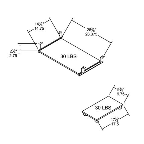 Keyboard dimensions