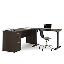 Embassy Reversible L-Desk with Adjustable Height Return, 8813555