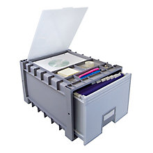 "Archive Letter-Sized Storage Box With Lid - 18"", 8823856"
