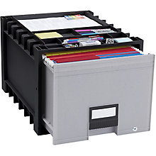 "Locking Letter-Sized Archive Storage Box - 18"", 8823857"