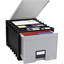 "Locking Letter Archive Storage Box With Lid - 18"", 8823859"