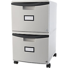 "Two Drawer Mobile Filing Cabinet - 15""W, 8823866"