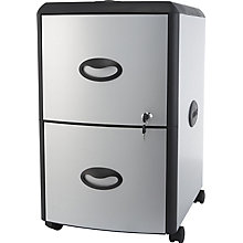 "Letter-Sized Two Drawer Mobile Filing Cabinet - 15""W, 8823867"