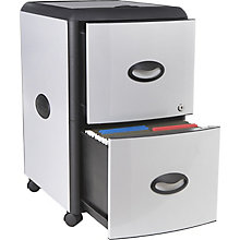"Deluxe Letter-Sized Two Drawer Mobile Filing Cabinet - 15""W, 8823868"