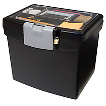 "Letter Sized Portable File Box - 13""W, 8823865"