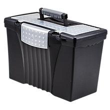 "Letter/Legal Portable File Box - 17""W, 8823863"