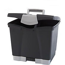 "Portable Letter-Sized File Box - 14""W, 8823862"
