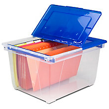 Set of Six Flip Lid Heavy Duty File Totes, 8823878