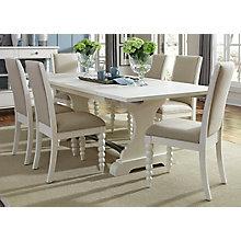 7 Pc Trestle Table Set , 8809972