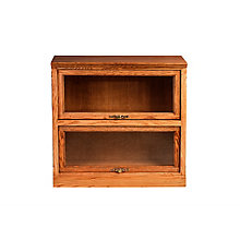 "2 Shelf Traditional Barrister Bookcase - 35""H, 8802140"