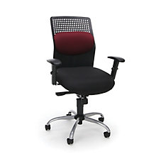 AirFlo Plastic and Fabric High Back Chrome Base Ergonomic Chair, 8813606