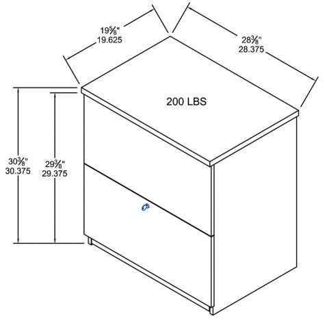 Lateral File Dimensions