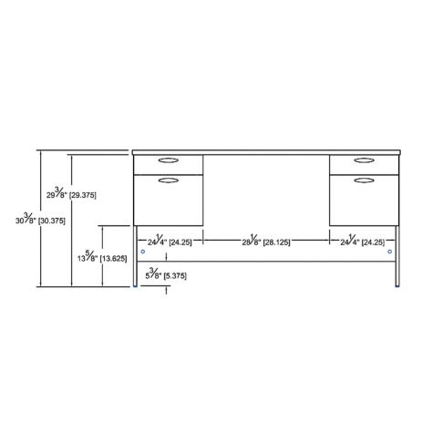 Desk interior dimensions
