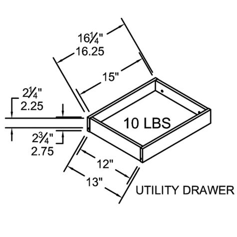 Desk box drawer dimensions