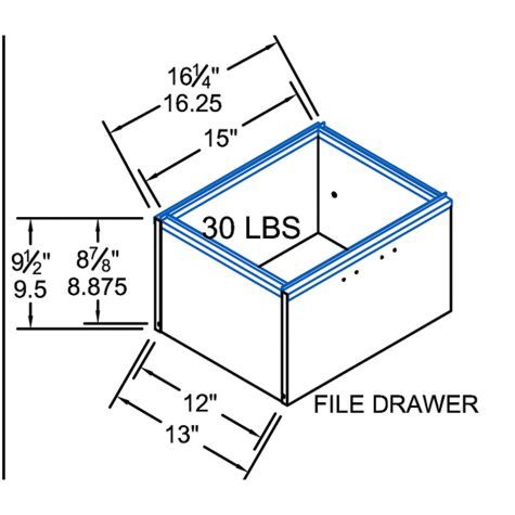 Desk file drawer dimensions
