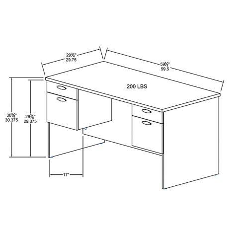 Overall desk dimensons