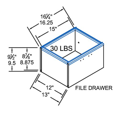 Drawer dimensions