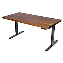 "Solid Wood Top Adjustable Height Table Desk - 60""W, 8804840"