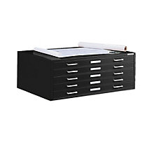 "Steel Five Drawer 54"" Wide Flat File Cabinet, 8804042"