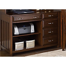 Hampton Bay Cherry Computer Credenza, LIE-718-HO121