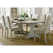 7 Pc Trestle Table Set , 8810008
