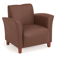 Faux Leather Flare Arm Reception Chair, OFF-SL2271