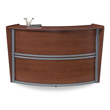 "Marque Curved Reception Station - 69.5""W x 33.5""D, OFM-55290"