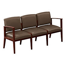 Amherst Three Seat Vinyl Loveseat, LES-K3401G5V