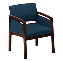 Lenox Panel Arm Oversized Vinyl Guest Chair, 8802889