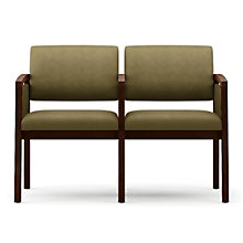 Lenox Panel Arm Two Seat Fabric Sofa with Center Arm, LES-L2133G6F